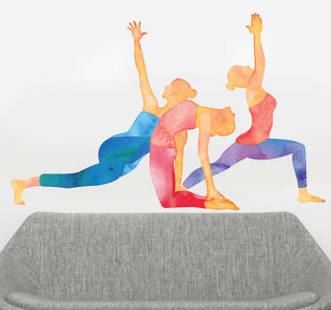 Vinil parede posturas de Yoga
