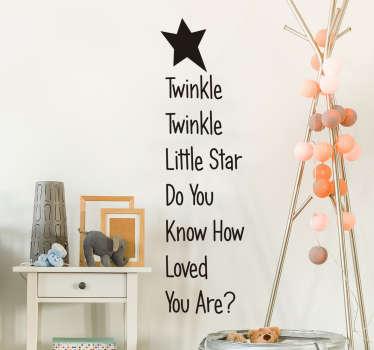 Muurtekst kinderkamer twinkle twinkle