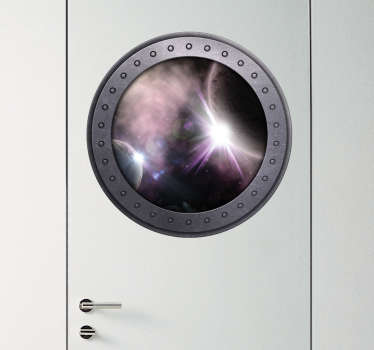 Autocolante decorativo janela para o espaço