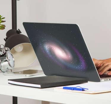 Autocollant pour ordinateur portable galaxie