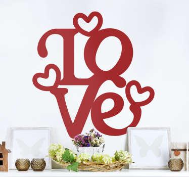Sticker mural lettres love