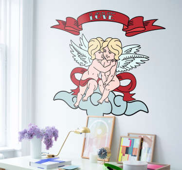 Sticker dessin love anges