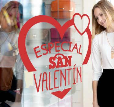 Vinilos San Valentín, ideales para decorar el escaparate o el interior de tu negocio para la próxima campaña del día de los enamorados.