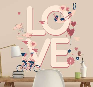 Adesivo San Valentino con illustrazioni