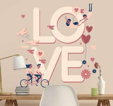 Vinilo San Valentín ilustración