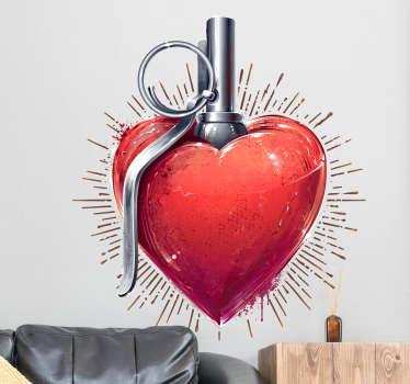 Adesivo amore cuore pompa
