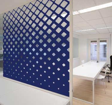 Adesivo murale ufficio vetro quadrati