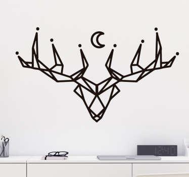 Vinilos dibujos geométricos ciervo