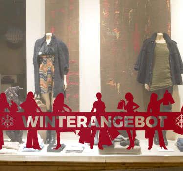 Toller Schaufensteraufkleber für Ihre Winterangebote.