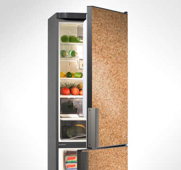 Carta adesiva frigorifero effetto sughero