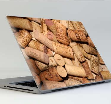 Vinilo para portátil textura corcho