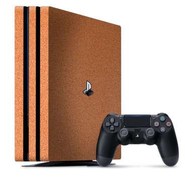 Vinilo simulación corcho PlayStation 4
