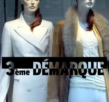 Stickers vitrine 3e  Démarque