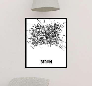 Vinilo pared mapa ciudad berlin