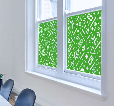 Sticker pour fenêtres motifs géométriques