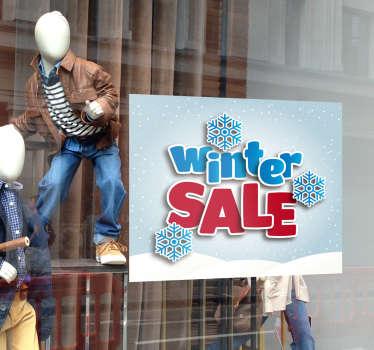 Houdt uw winkel ook een winteruitverkoop? Laat dit aan uw klanten zien met een stijlvolle reclame sticker voor in de etalage.