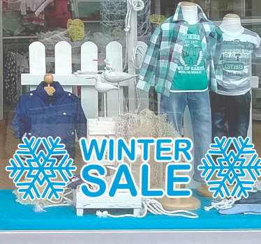 Reclame sticker winter sale