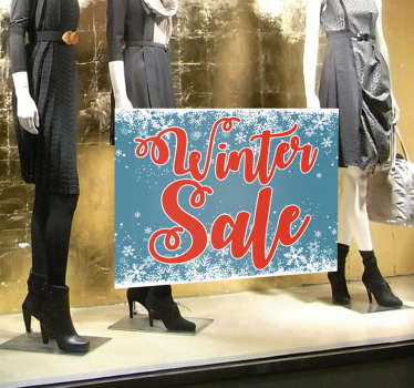 Winkel sticker winter sale sneewvlokjes