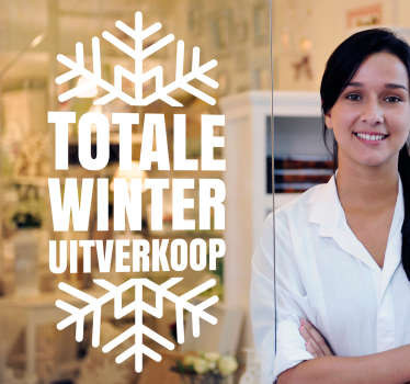 Winkel sticker winter totale uitverkoop