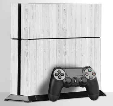 White Texture PS4 Skin Sticker