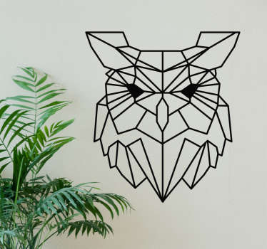 Geometric owl bird wall sticker to decorate any space of choice. The design is available in different colours and size options.
