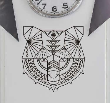 Wandtattoo geometrischer Bär