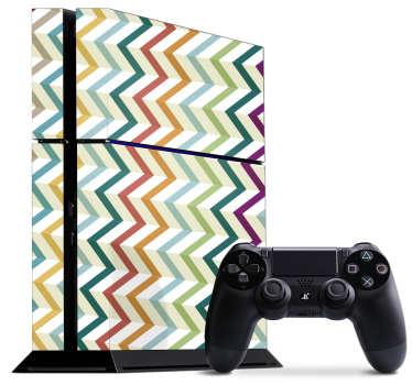 Vinilo PS4 colores zigzag