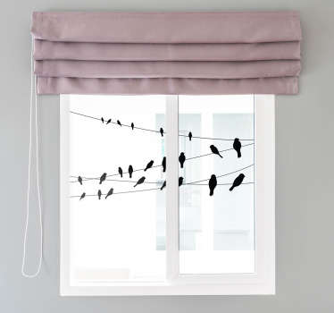 Ptaki na naklejce okna linii