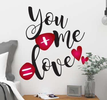 Vinil amor mensagem tipográfica