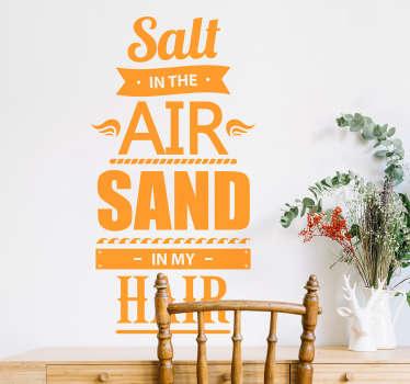 Tekst muursticker Salt & Sand