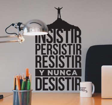 Enterprising phrases motivational wall sticker  for home and business space. It is available in different colour and size options.