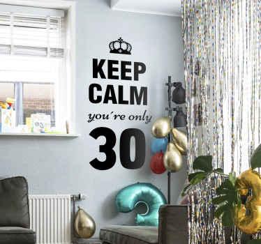 Vinil Keep Calm idade personalizável