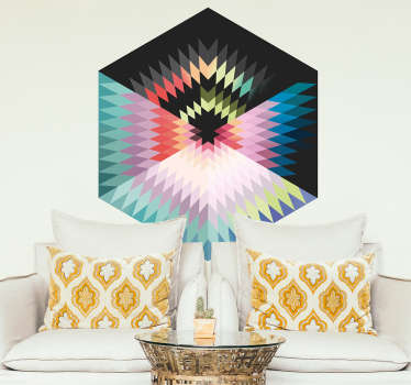 Vinilo decorativo prisma colores