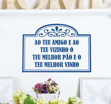 Vinil ditado popular português