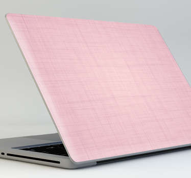 Naklejka na laptopa wzór różowej tkaniny lnianej