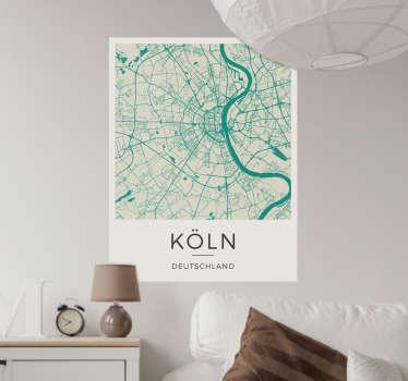 Wandtattoo Karte Köln
