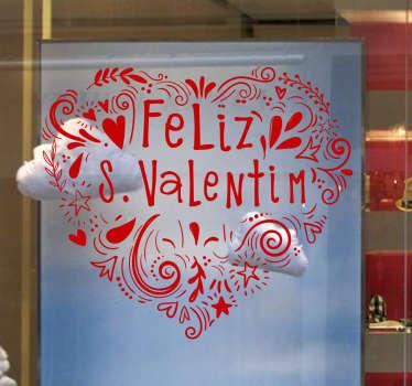 Vinil montras Feliz S. Valentim