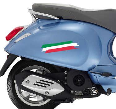 Adesivo tricolore per moto