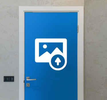 Adesivo porta con foto personalizzata