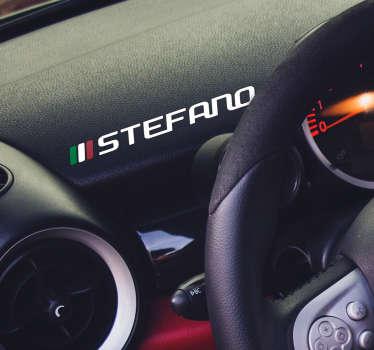 Lascia che questo fantastico adesivo auto Italia con nome personalizzabile ti aiuti a rendere la tua macchina veramente unica!