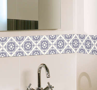 Nile Vintage bathroom wall border sticker to decorate the tile space of bathroom and kitchen. The product is available in any desired size.
