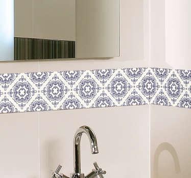 Vinilo para baño azulejo vintage