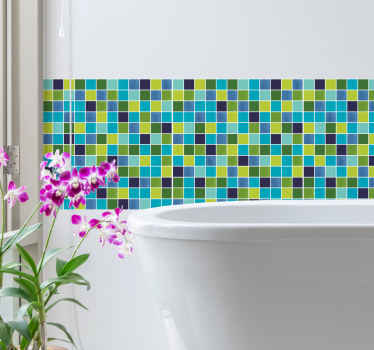 Add some fun and happy mode to a bathroom space with our Vintage bathroom tiles wall decal. It is easy to apply and self adhesive.