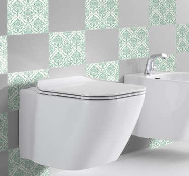 Piastrelle adesive decorative bagno antico