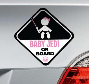 Naklejka dziecko na pokładzie Baby Jedi on board