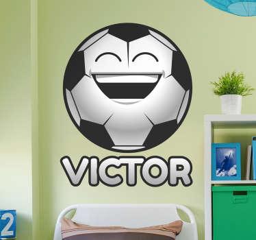 Naklejka na ścianę piłka nożna z imieniem dziecka