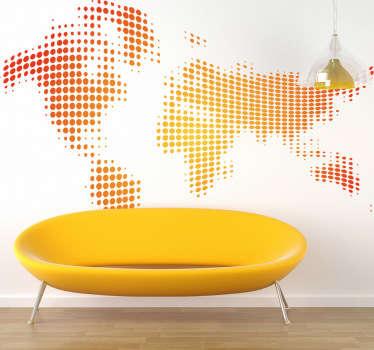 Waveform World Map Sticker