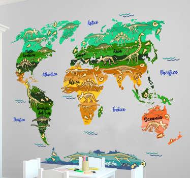 Verdens kort klistermærke dinosaurer