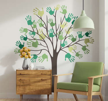 Decorative colorful tree plant wall art sticker for home  decoration. Buy this design in any size of choice ad it application is easy