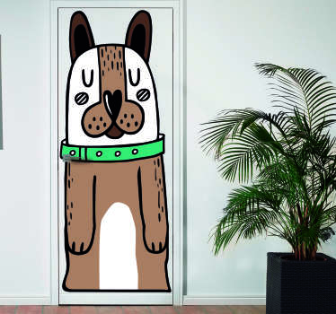 Cute door decar that will be perfect for dog lovers. Cute design of this animal will decorate any interior in a fantastic way!